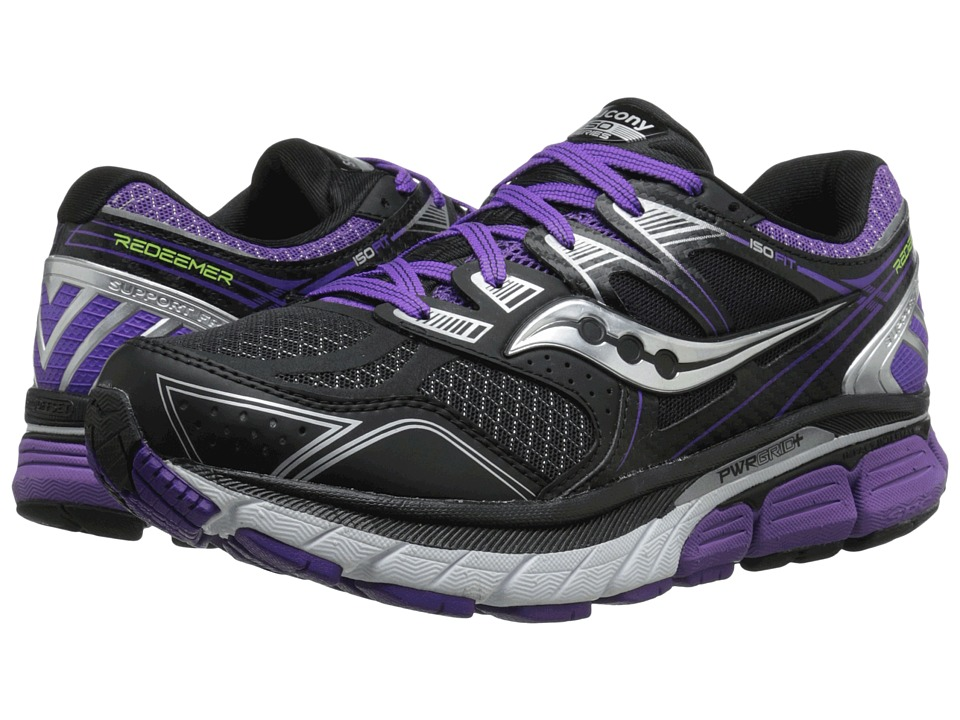 Saucony - Redeemer (Black/Purple) Women's Running Shoes