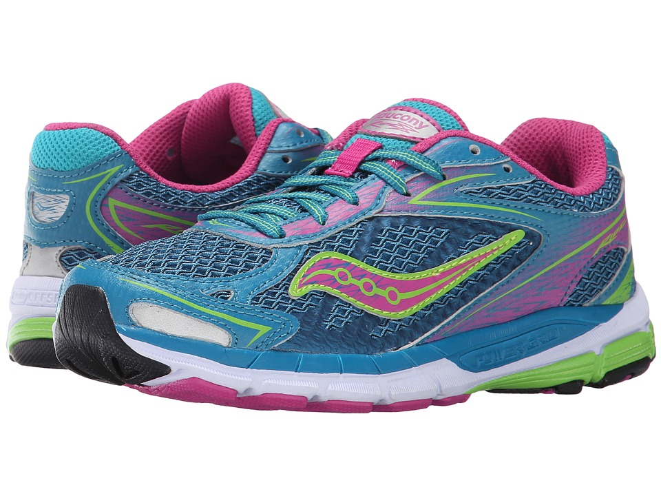 Saucony Kids Ride 8 Little Kid/Big Kid Turquoise Girls Shoes
