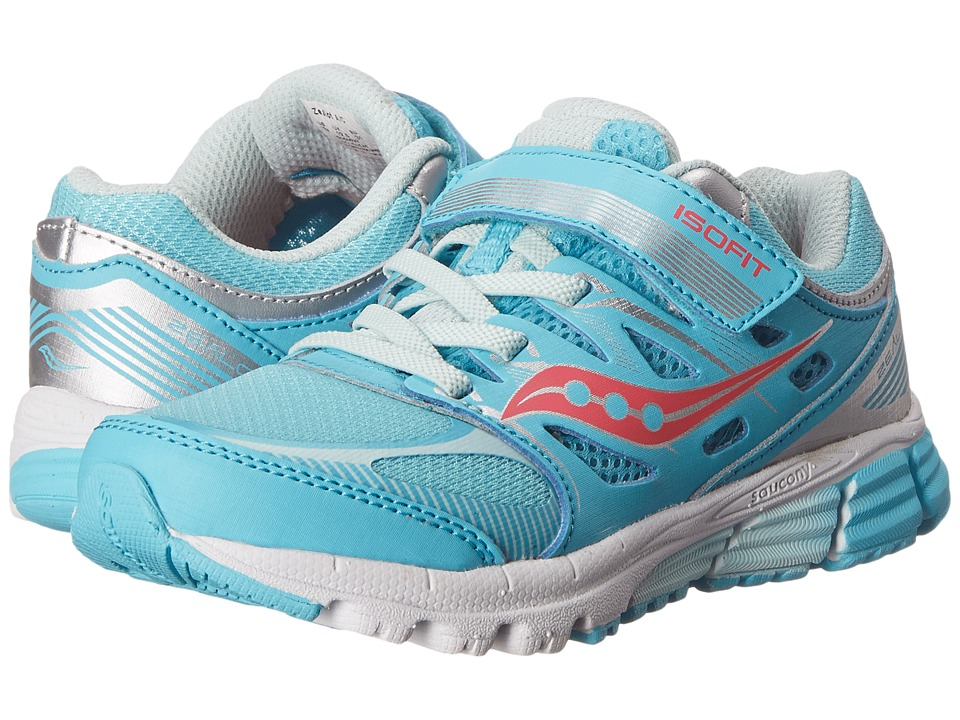 Saucony Kids - Zealot A/C (Little Kid) (Turquoise/Silver/Vizi Coral) Girls Shoes