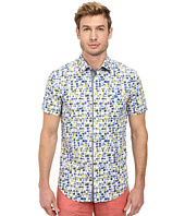 BOSS Orange - Eslimye Sim Fit Short Sleeve Shirt in All Over Dot Print