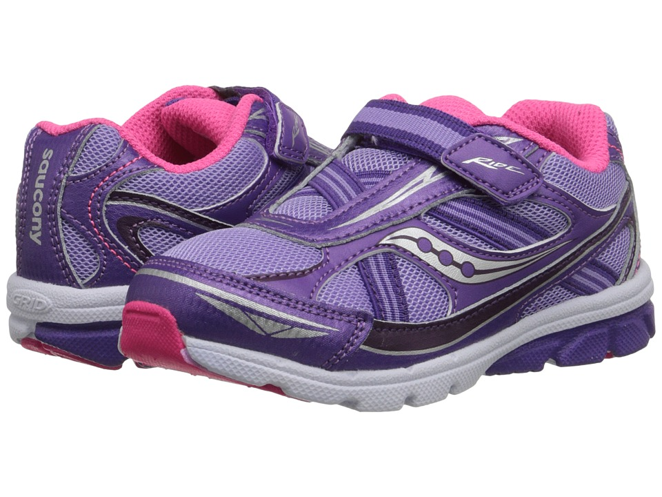 Saucony Kids Ride Toddler/Little Kid Purple Girls Shoes