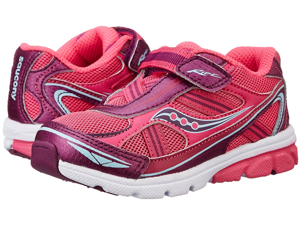 Saucony Kids Ride Toddler/Little Kid Pink/Purple Girls Shoes