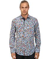 BOSS Orange - Eslime Slim Fit Long Sleeve Shirt in Ink-Jet Print