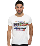 BOSS Orange - Tavey 1 Fashion Fit Washed Pima Cotton Graphic Tee