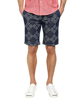 BOSS Orange - Sairy-W Slim Fit Gipsy Pattern Indigo Shorts