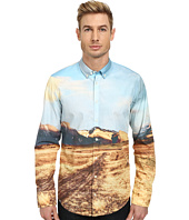 BOSS Orange - Edipoe Slim Fit Long Sleeve Shirt w/ Button Down Collar in All Over Digital Print