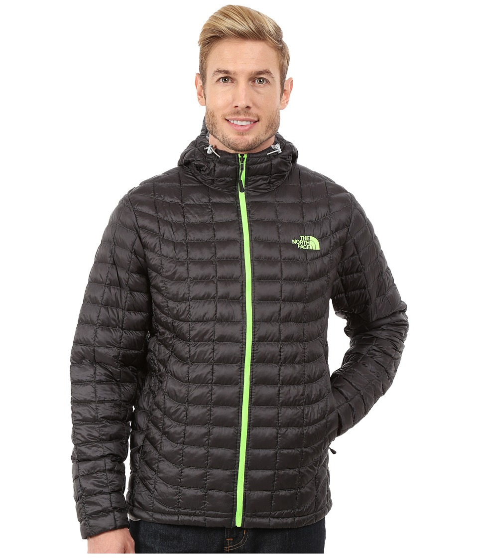 The North Face - ThermoBall Hoodie (Asphalt Grey/Power Green) Men