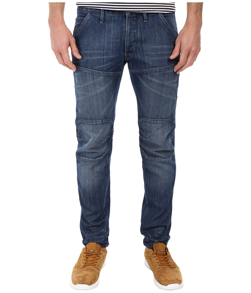 G Star 5620 Bike 3D Low Tapered in Duke Denim Medium Aged Duke Denim Medium Aged Mens Jeans