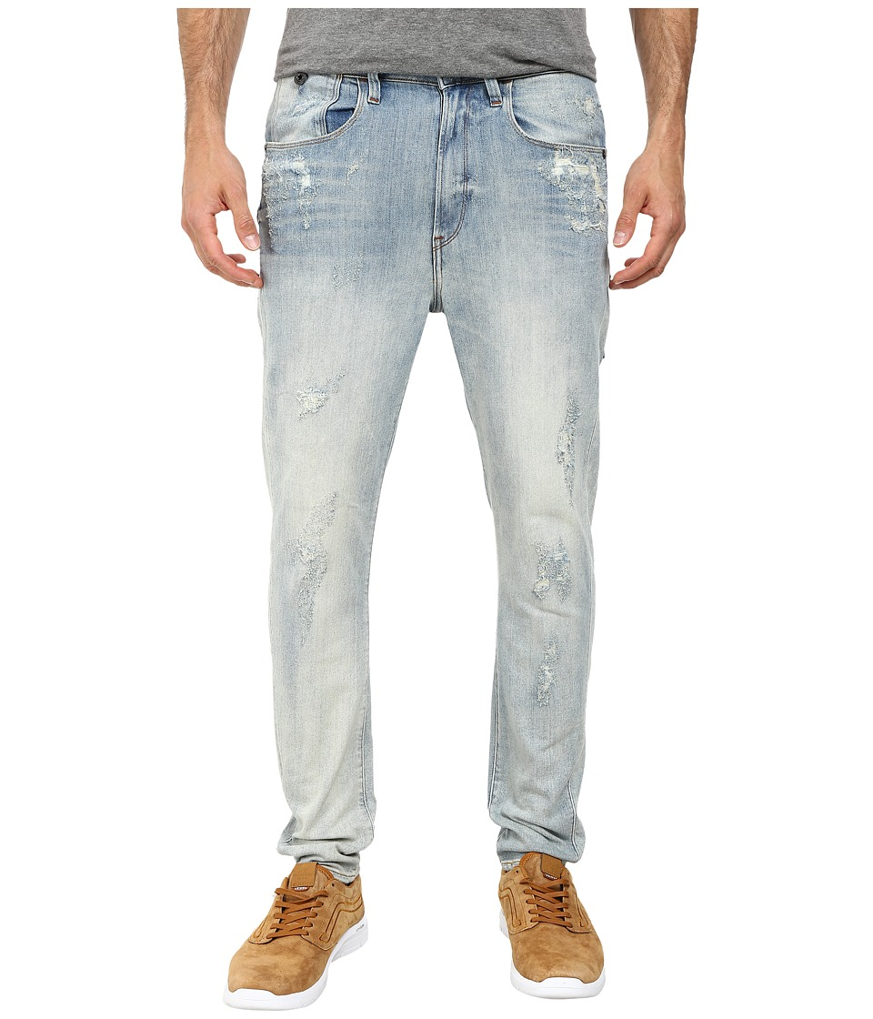 G Star Type C 3D Super Slim in Gaty Stretch Denim Light Aged Destroy Gaty Stretch Denim Light Aged Destroy Mens Jeans