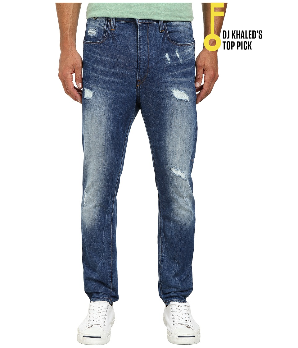 G Star Type C 3D Super Slim in Accel Stretch Denim Light Aged Destroy Accel Stretch Denim Light Aged Destroy Mens Jeans