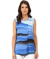 Vince Camuto - Sleeveless Scenic Wave Panel Blouse