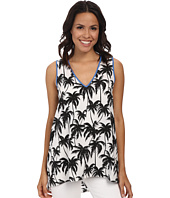 Vince Camuto - Sleeveless Palm Harmony V-Neck Blouse