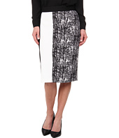 Vince Camuto - Texture Etching Pencil Skirt w/ White Trim