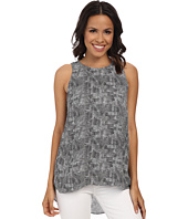 Vince Camuto - Sleeveless Scale Imprint High-Low Hem Blouse