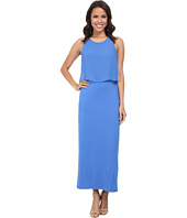 Vince Camuto - Sleeveless Maxi Dress w/ Woven Overlay Top