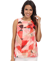 Vince Camuto - Sleeveless Sorbet Squares Double Layer Blouse
