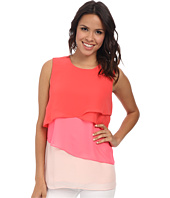 Vince Camuto - Sleeveless Color Block Layered Blouse