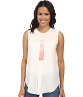 Vince Camuto - Sleeveless Crew Neck Embelished Top