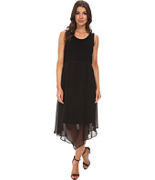 Vince Camuto - Sleeveless Dress w/ Asymmetrical Chiffon Overlay Skirt