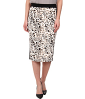 Vince Camuto - Leopard Pencil Skirt w/ Solid Trim