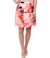 Vince Camuto - Sorbet Squares A-Line Double Layer Skirt