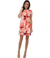 Vince Camuto - Cap Sleeve Sorbet Squares Shift Dress
