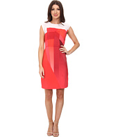 Vince Camuto - Cap Sleeve Ombre Edge Border Dress