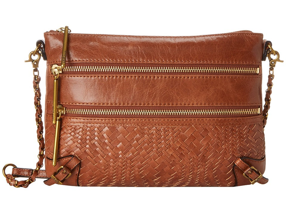 Elliott Lucca Bali 89 3 Zip Clutch Tobacco Devi Clutch Handbags