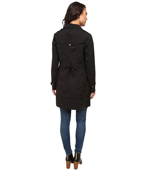 Cole Haan | Black Packable Rainwear Single Breasted Rain Jacket | Lyst