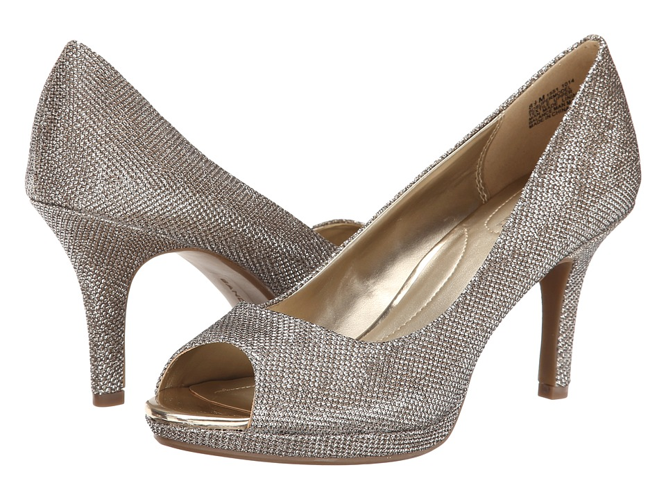 Bandolino Supermodel Gold Fabric Womens Shoes