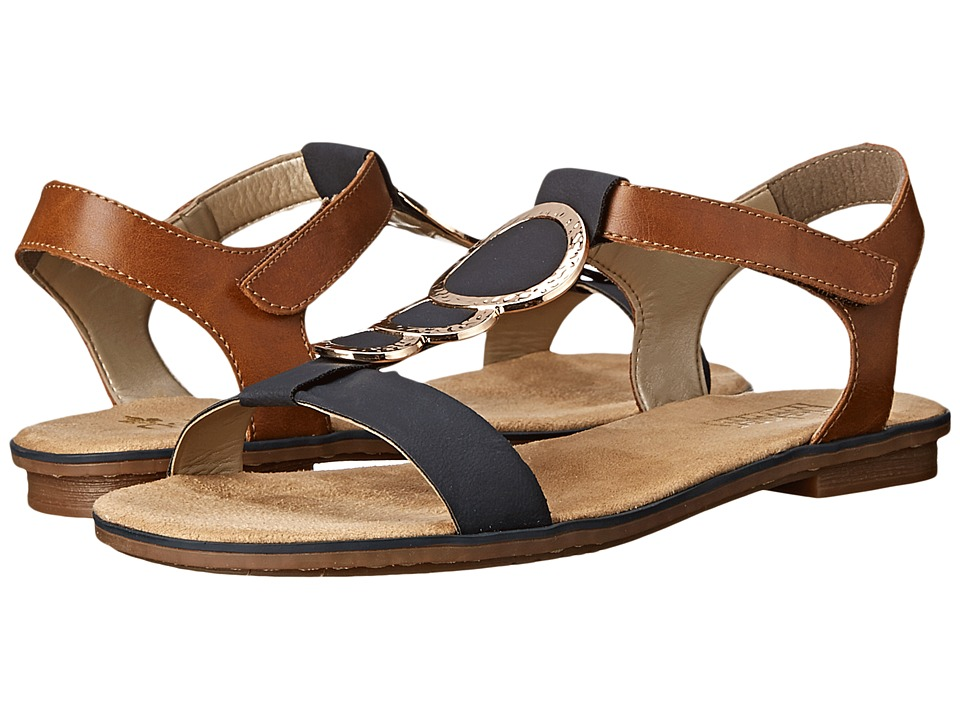 Rieker 64278 Levinia 78 (Pazifik/Amaretto) Women's Shoes