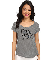 TWO by Vince Camuto - Short Sleeve New York Line Drive Stripe Tee