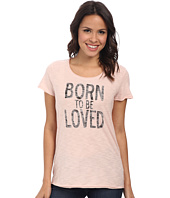 TWO by Vince Camuto - Short Sleeve Cotton Slub Born To Be Loved Tee