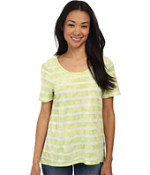 TWO by Vince Camuto - Short Sleeve Tie-Dye Striped Top