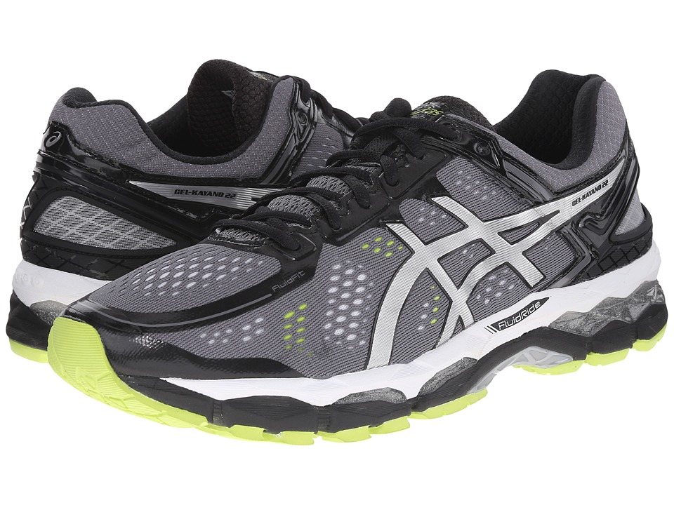 ASICS - GEL-Kayano 22 (Charcoal/Silver/Lime) Men