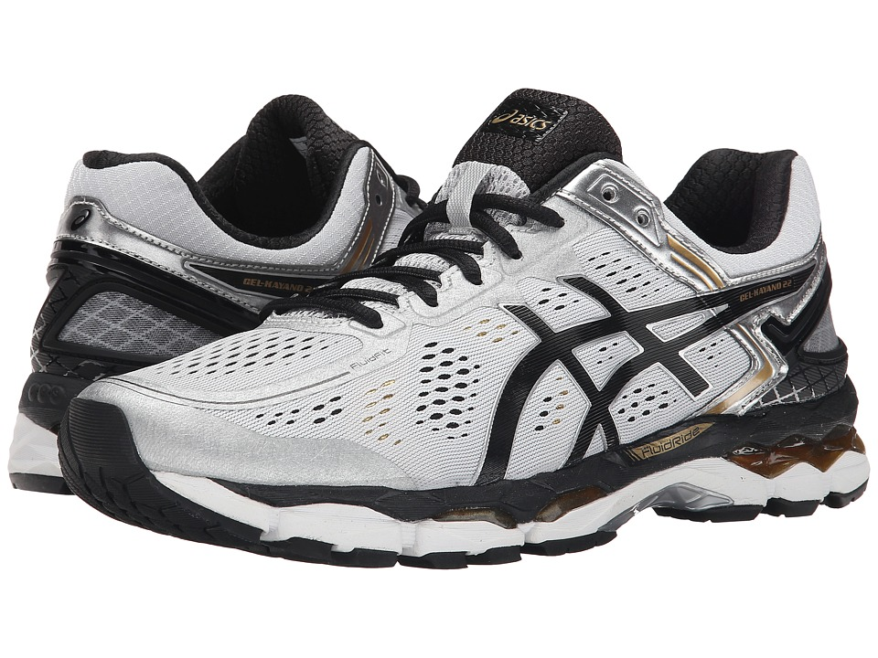 ASICS - GEL-Kayano 22 (Silver/Black/Gold) Men