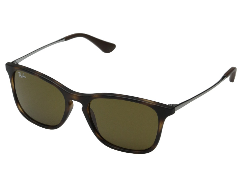 Ray Ban Junior 0RJ9061S Chris 49mm Youth Tortoise Rubber/Brown Classic B 15 Fashion Sunglasses