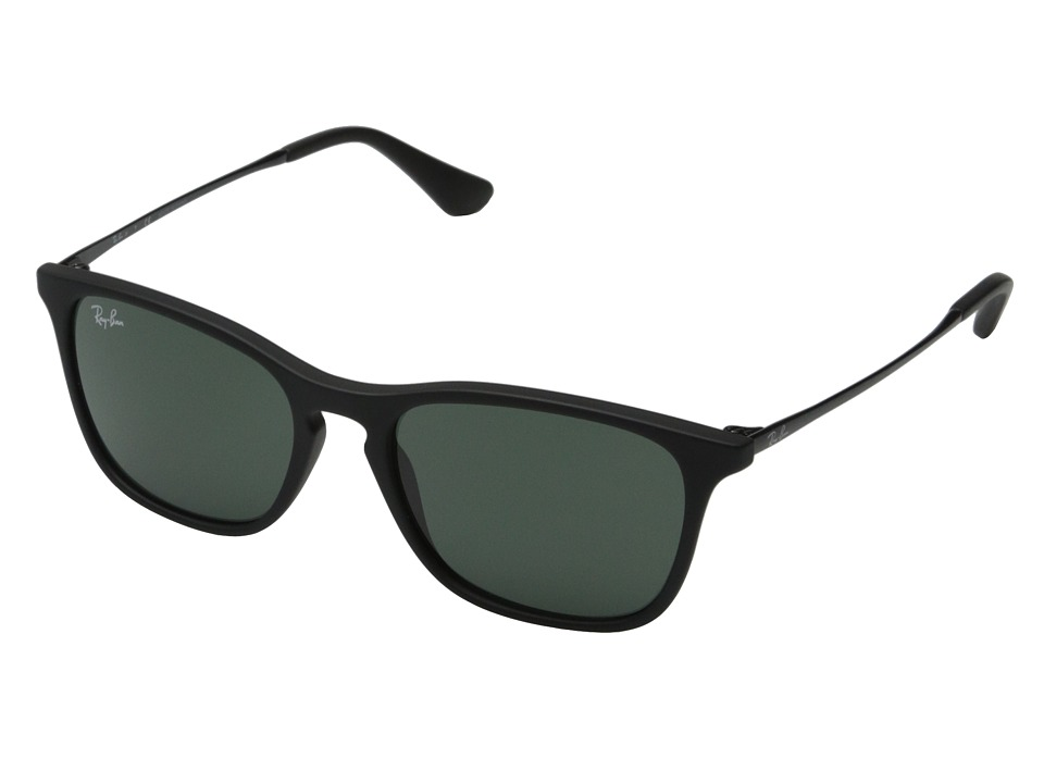 Ray Ban Junior 0RJ9061S Chris 49mm Youth Black Rubber/Green Classic Fashion Sunglasses