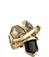 Alexis Bittar - Multi-Stone Orbit w/ Fancy Pyrite, Pyrite Crystal Doublet & Black Crystal Kite Ring