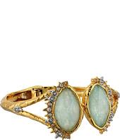 Alexis Bittar - Crystal Studded Spur Trimmed Hinge w/ Custom Amazonite Crystal Doublet Bracelet
