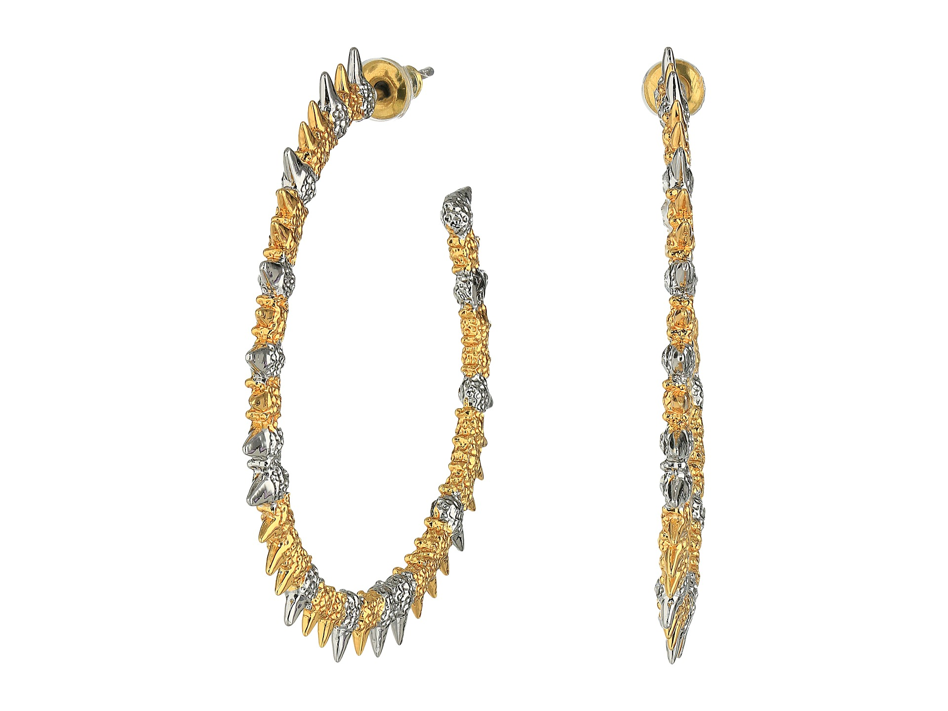 Hoop Earrings With Studs Studded Spur Hoop Earrings