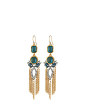 Alexis Bittar - Crystal Studded Tassel w/ Rose Cut Chrysocolla Earrings