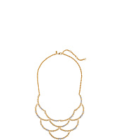 Alexis Bittar - Crystal Studded Scalloped Spur Bib Necklace