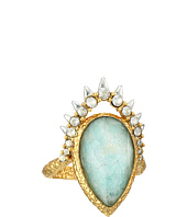 Alexis Bittar - Crystal Studded Spur Framed Amazonite Crystal Doublet Ring