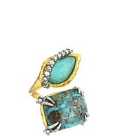 Alexis Bittar - Crystal Studded Bypass w/ Custom Amazonite Crystal Doublet & Chrysocolla Ring
