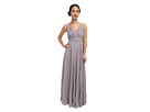 Donna Morgan Giselle Long Pleated Chiffon (Sterling)