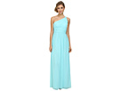 Donna Morgan One Shoulder Strapless Gown Rachel (Gulfstream)