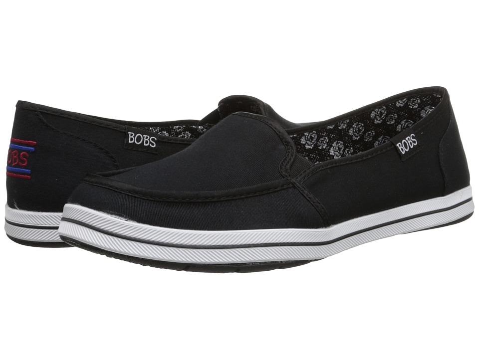 BOBS from SKECHERS Bobs Flexy Black Womens Slip on Shoes