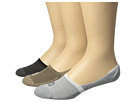 Sperry Solid 1/2 Cushion Mid Vamp Liner 3-Pair Pack