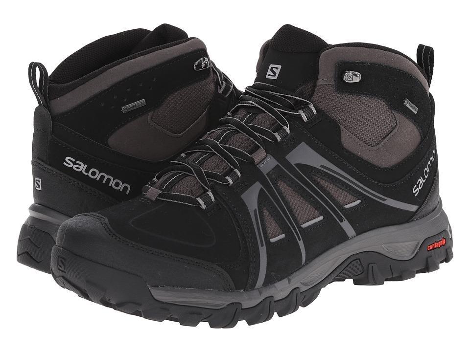 Salomon - Evasion Mid GTX (Black/Autobahn/Pewter) Mens Shoes